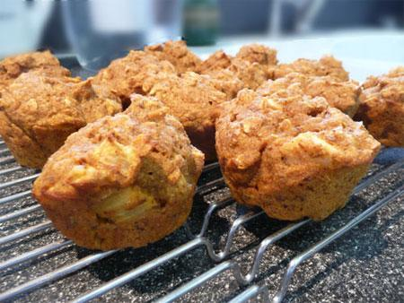Pumpkin Apple Oat Muffins