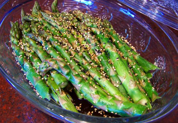 Sesame Asparagus..different and Delish!