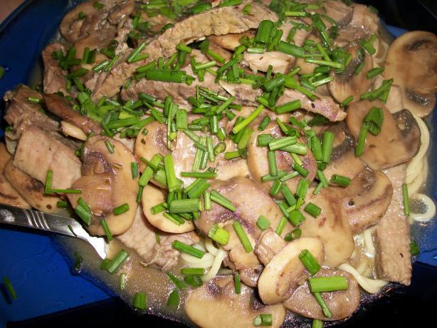 Grilled Sirloin Steak Marsala