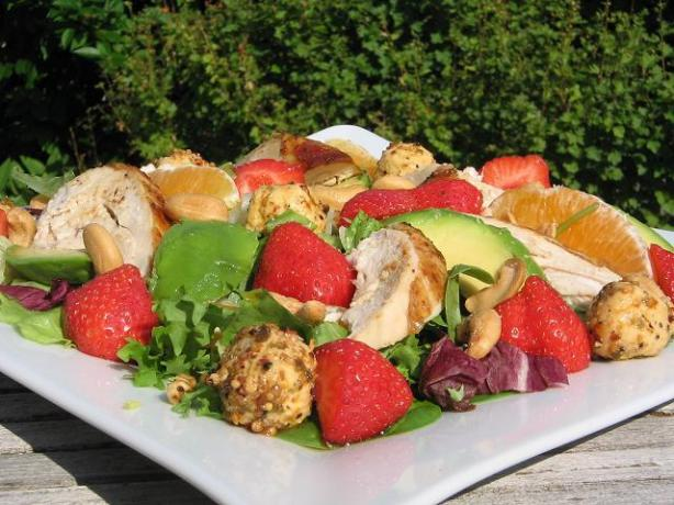 Strawberry and Orange Chicken Salad