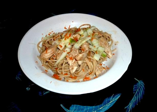 Cold Sesame Noodles With Shredded Chicken