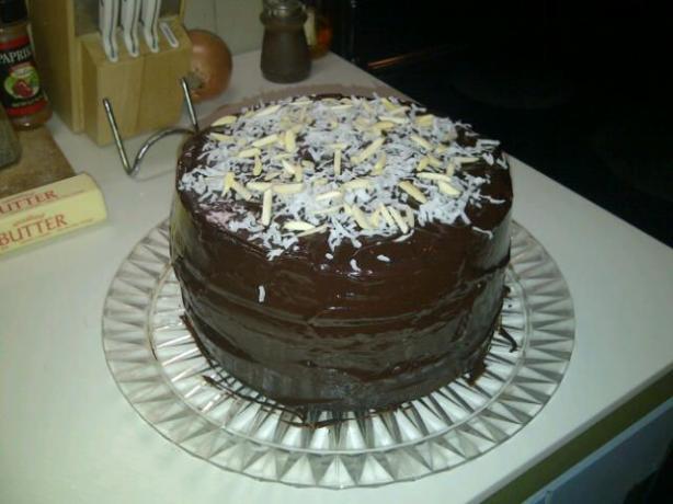 Cocoa Almond Coco Cake