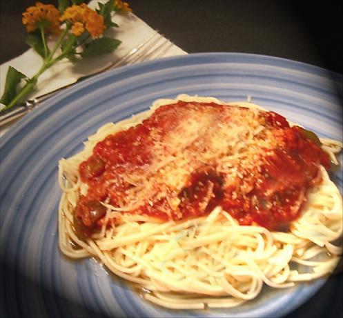 Spaghetti With Eggplant (Aubergine) Sauce
