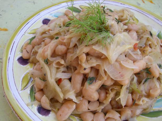 Braised Fennel and White Beans