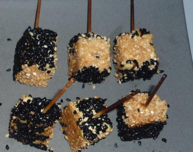 Sesame Black Pepper Crusted Tofu