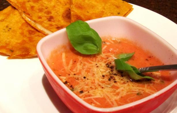 Valentines Day Tomato Basil Soup