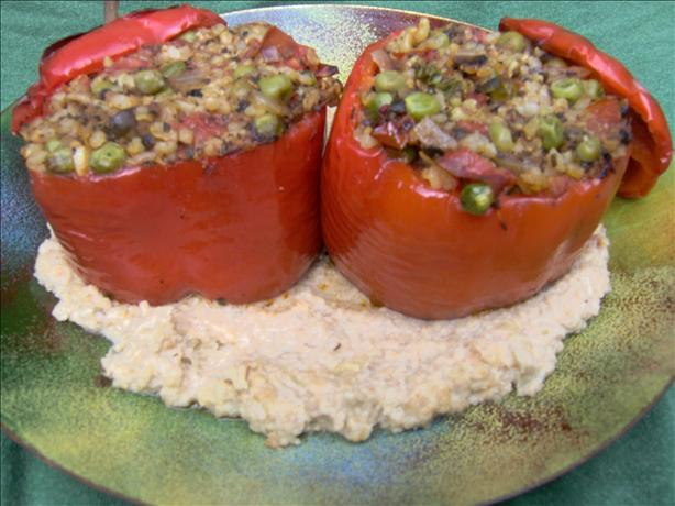 Stuffed Bell Peppers With a Savoury Cashew Sauce