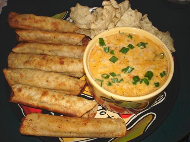 Bean & Cheese Taquitos w/ Guacamole