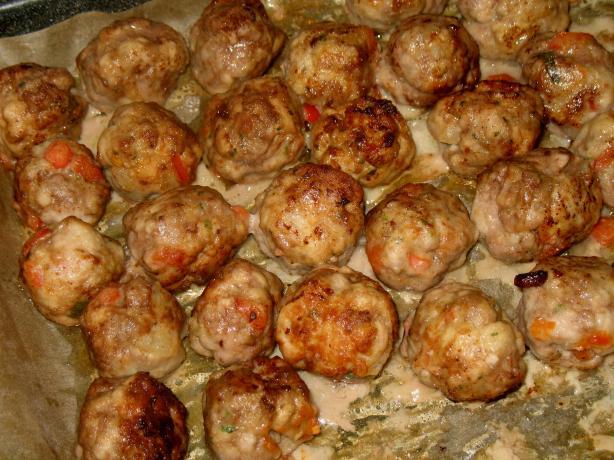 Red Bell Pepper Pork Boulettes (Meatballs)