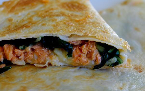 Heart-Healthy Salmon Quesadillas