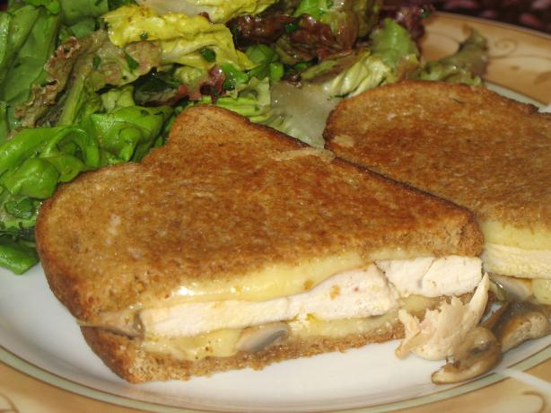 Chicken, Mushroom, and Gruyere Grilled Sandwiches