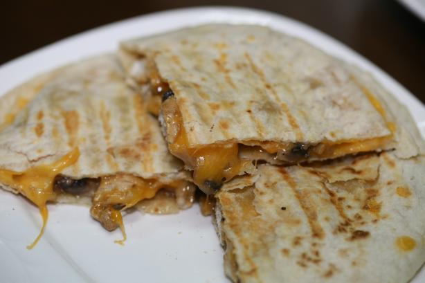Chicken, Mushroom and Cheese Quesadillas