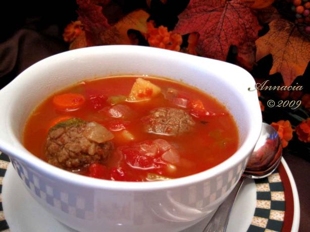 Meatball Vegetable Soup