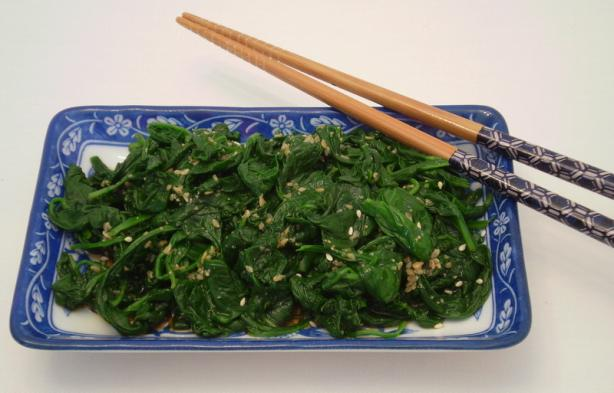 Gomae - Japanese Style Spinach Salad