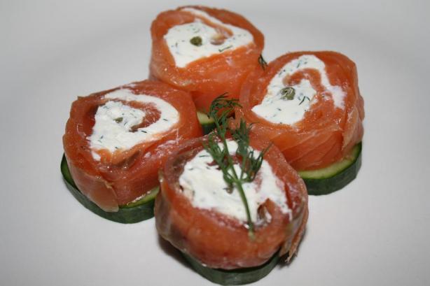 Smoked Salmon Spirals