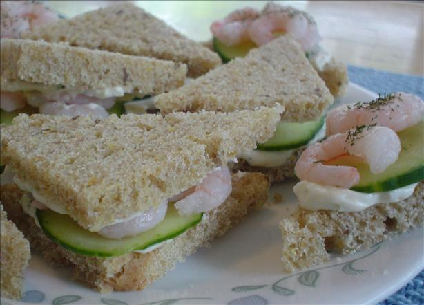 Cucumber Shrimp Tea Sandwiches