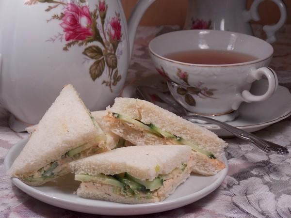 Cucumber and Dill Tea Sandwich