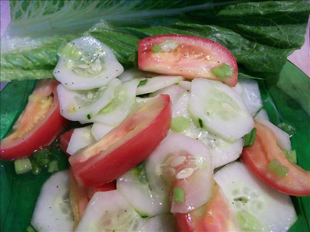 Bev's Marinated Cucumber Salad