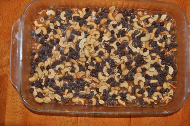 Chocolate Caramel Cashew Chewies