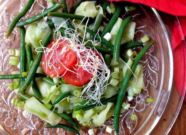 Marinated Cucumber and Green Bean Salad