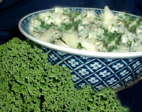 Simple Kale & Mashed Potatoes
