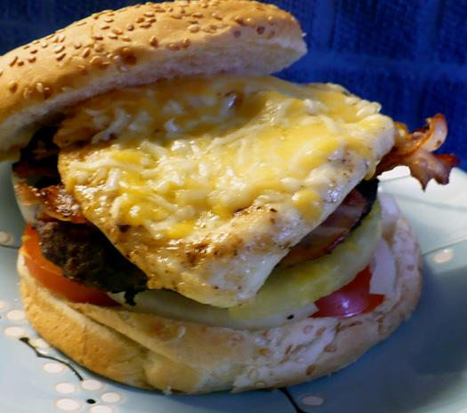 Aussie Style Burger With the Lot