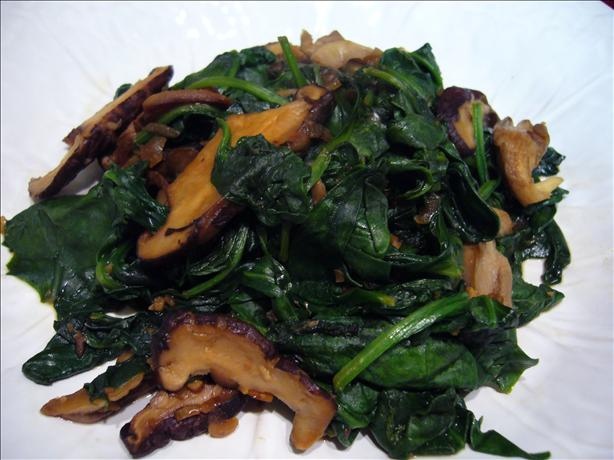 Sauteed Wild Mushrooms With Spinach