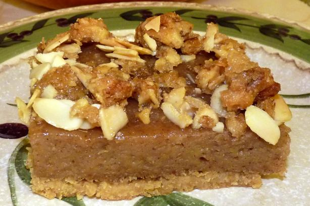 Pumpkin Bars With Brown Sugar Nut Topping