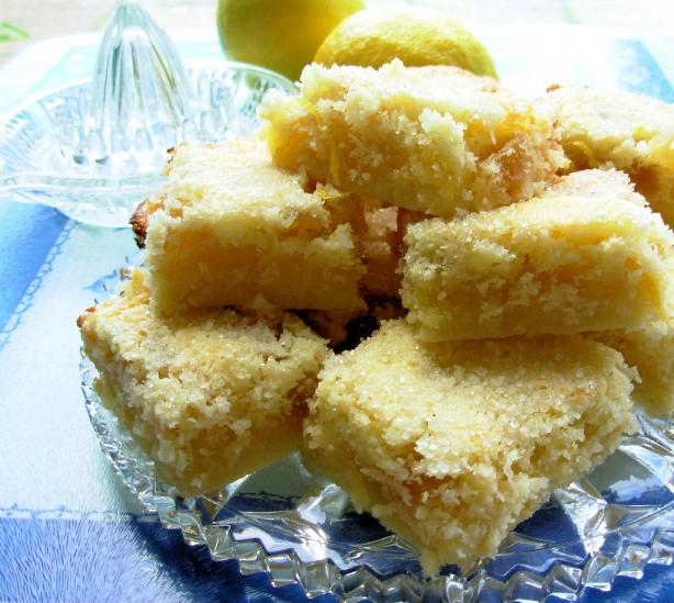 Lemon Squares With Candied Ginger