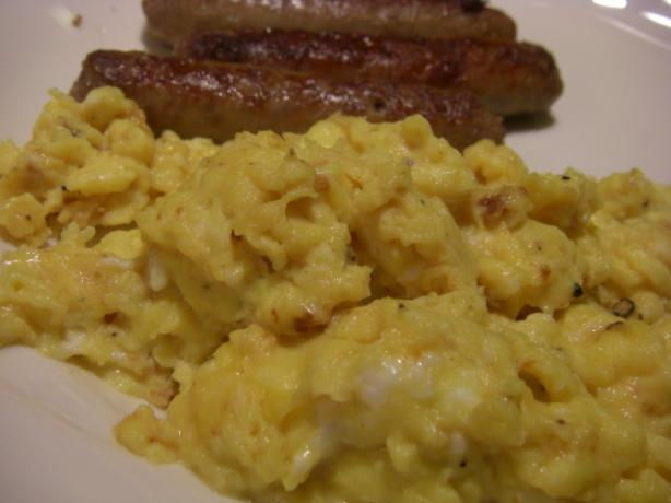 Fluffy Scrambled Eggs - Lightened up a Bit