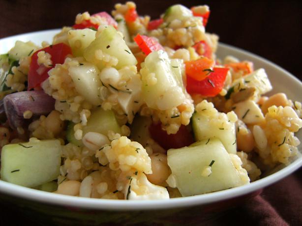 Millet & Quinoa Mediterranean Salad