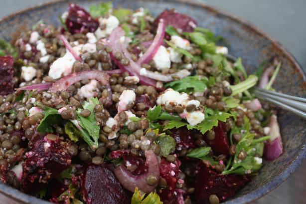 Lentil Salad With Baby Beets & Feta