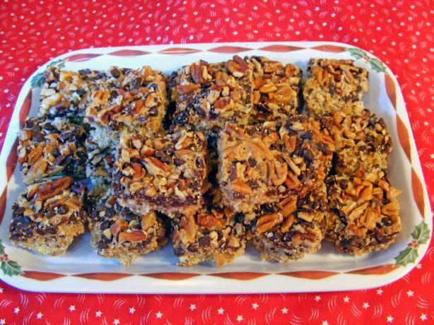 Chocolate Raisin Nut Crunch Bars