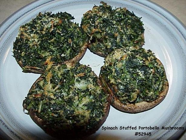 Spinach Stuffed Portabella Mushrooms.