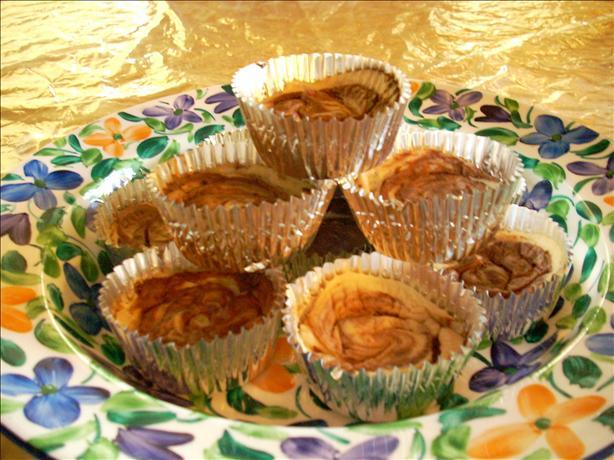 Mini Cocoa Swirl Cheesecakes (Vegan)