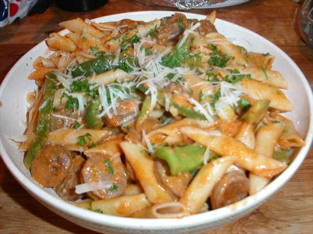 Penne & Sausages a La Vodka