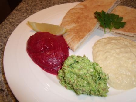 Raw Green Pea and Almond Dip - Courtesy of Kurma Dasa.