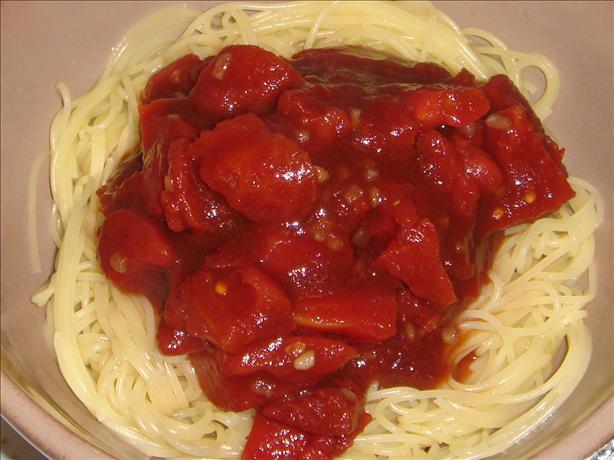 Bruschetta Strozzapreti (Curly Pasta)