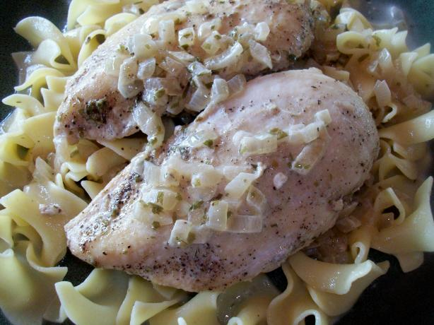Creamy Chicken Tarragon With Egg Noodles