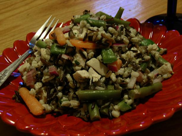 Piquant Turkey-Wild Rice Salad (No Mayo)
