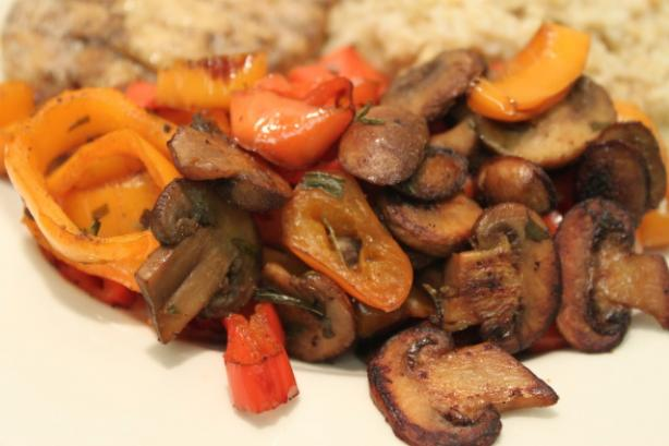 Bell Pepper and Mushroom Saute