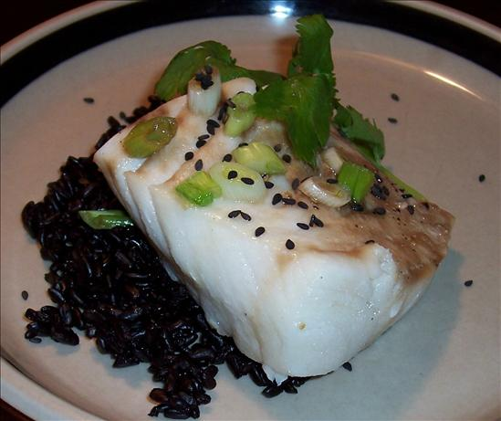Sake Steamed Sea Bass