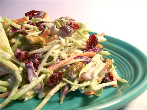 Easy Broccoli-Cranberry Holiday Slaw