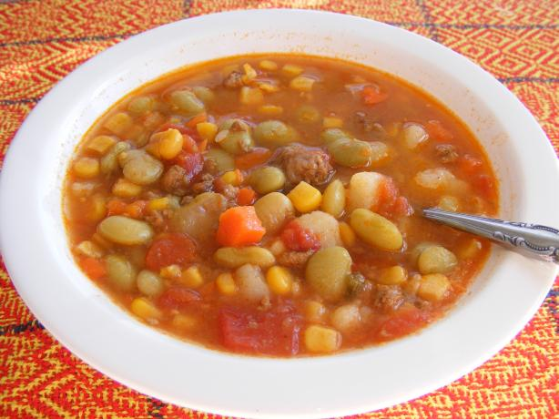 Simple Hamburger Vegetable Soup