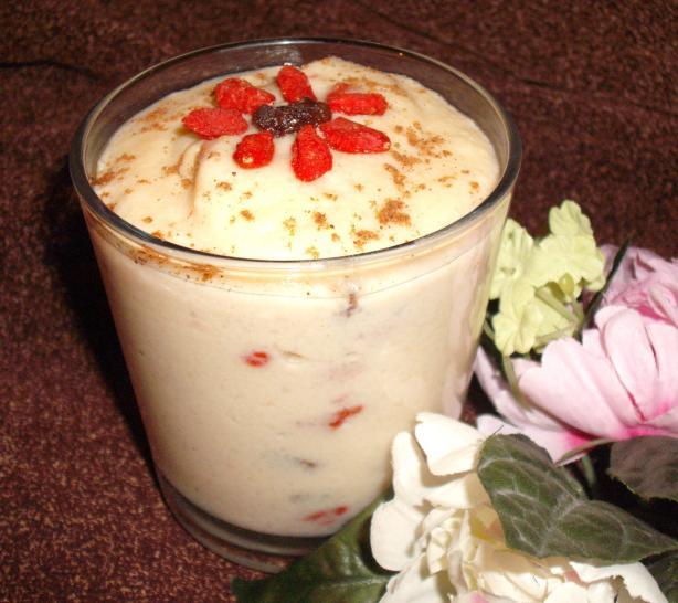 Goji Berry Rice Pudding