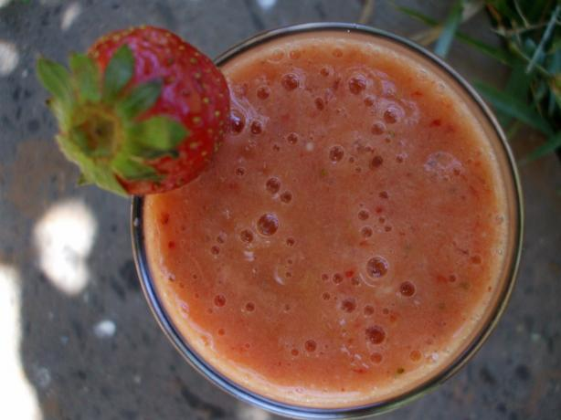 Peach and Strawberry Smoothie