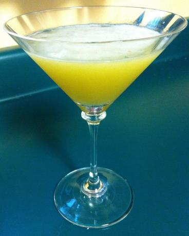 Peach Basil Martini