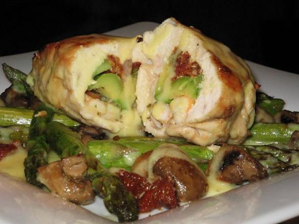 Avocado Prawn and Sun-Dried Tomato Stuffed Chicken
