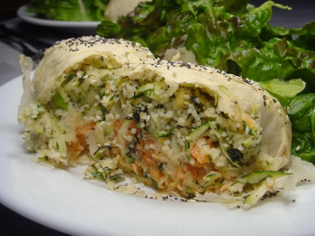 Salmon, Couscous and Dill Parcels