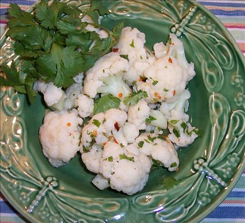 Cauliflower With Lime and Hot Pepper Vinaigrette